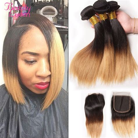 Ombre Weave Hairstyles by Ombre Bob Hair Human Hair Bundles With