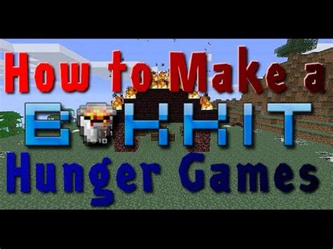 how to make hunger how to make a minecraft hunger games server how to save money and do it yourself