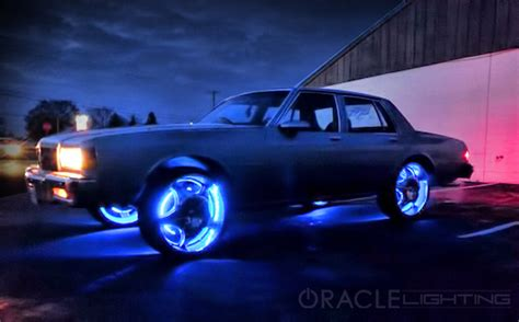 led wheel light rings set of 4 led car lights by