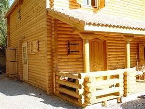 Maison En Rondin : maison en rondin calibr jardi brico ~ Melissatoandfro.com Idées de Décoration