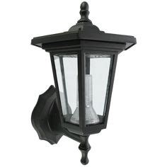 buy smart solar seville lantern outdoor light black at