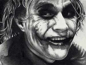 Go to DrPencil.com: Drawing of Heath Ledger as The Joker ...
