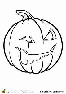 Tete De Citrouille Pour Halloween : coloriage halloween citrouille qui rigole ~ Melissatoandfro.com Idées de Décoration