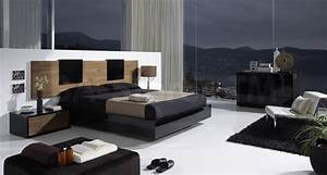 Eslida Gallery BlackWalnut 4 PC Bedroom Set Modern