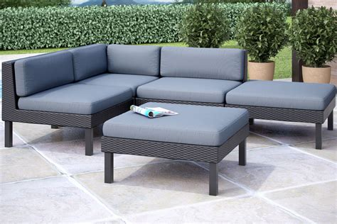 oakland 5 sectional with chaise lounge patio set