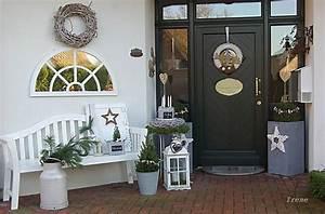 Eingangsbereich Außen Dekorieren : weihnachtlich dekoriert wohnen und garten foto winterdeko pinterest weihnachtlich ~ Buech-reservation.com Haus und Dekorationen