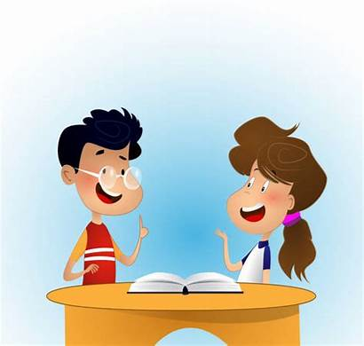 Discussing Children Illustration Clip Montessori Illustrations Vector