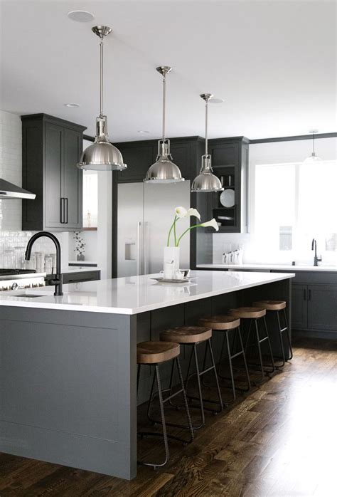 black island kitchen 40 and welcoming grey kitchens for your home