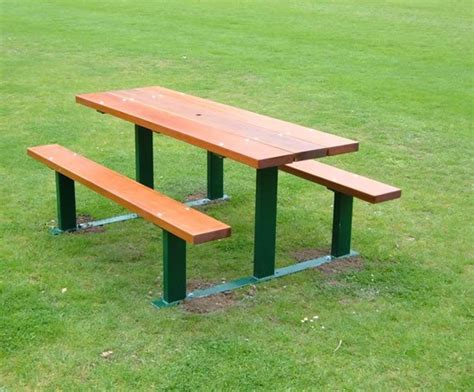 beaufort hardwood and galvanised steel picnic table