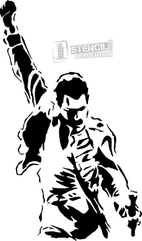 Download your free Freddie Mercury Stencil here. Save time