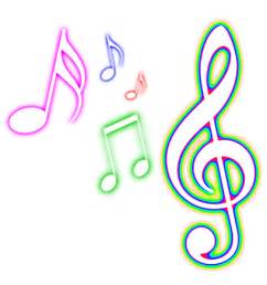 Colorful Music Notes Transparent