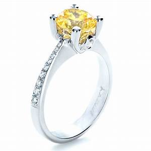 canary yellow diamond engagement ring 1291 With canary diamond wedding rings