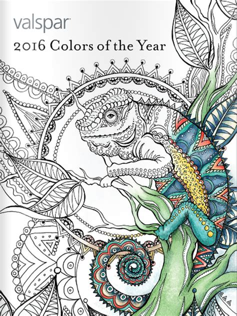 valspar 2016 colors of the year valspar 2016 colors of the year coloring books valspar