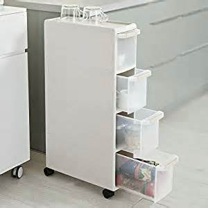 sobuy 174 4 drawers plastic storage drawer unit on wheels