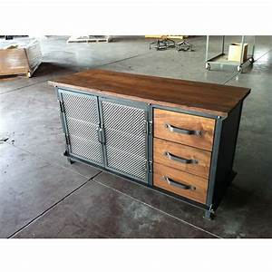 Ellis Console with Drawers – Vintage Industrial Furniture
