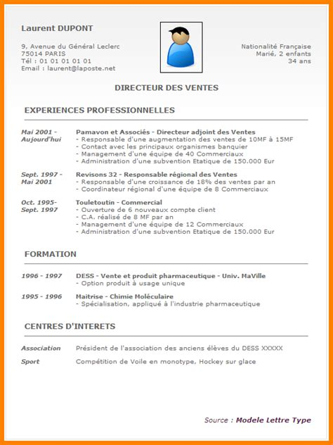 Redaction Cv by R 233 Daction D Un Cv Exemple Lettre De Motivation