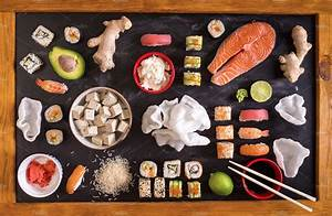 Set of sushi and Japanese food ~ Food & Drink Photos ...