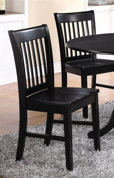 set of 4 norfolk dinette kitchen dining chairs with plain