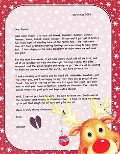 Optional christmas gifts north pole letters keepsakes for Letter from santa and rudolph