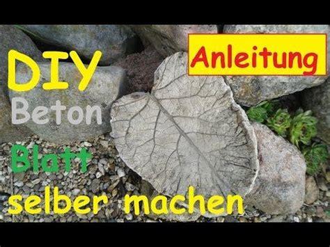 Schale Giessen Blaetter Und Beton by Beton Giessen Diy Vogeltr 228 Nke Schale Rhabarber