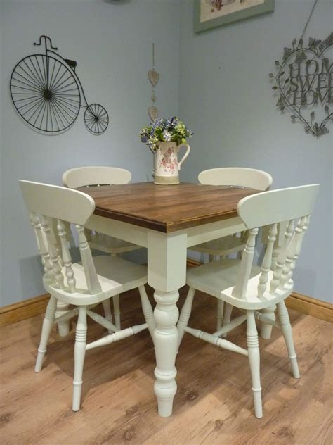 shabby chic table and chairs bespoke handmade shabby chic farmhouse small square dining