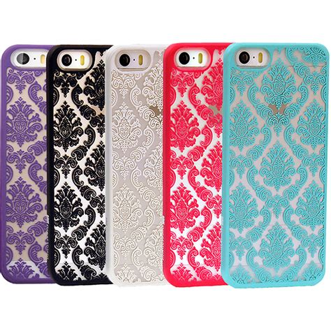 iphone 5s rubber damask vintage pattern rubber protector cover
