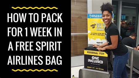 How To Pack Clothes For One Week In A Free Spirit Airlines