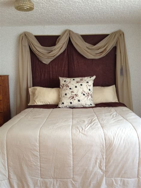 Used Headboard by Bed With No Headboard So Got Creative And Used A Curtain
