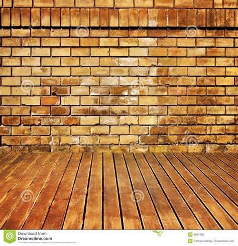 House Interior Brick And Wood Grunge Texture Royalty Free