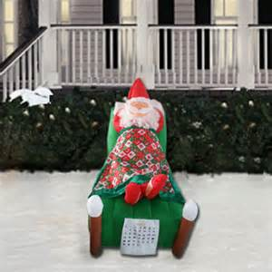 christmas air inflatable yard decorations 5 animated air inflatable sleeping santa american sale