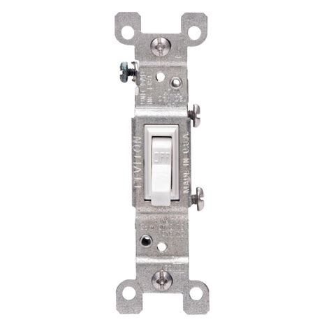 Leviton Amp Single Pole Switch White Pack