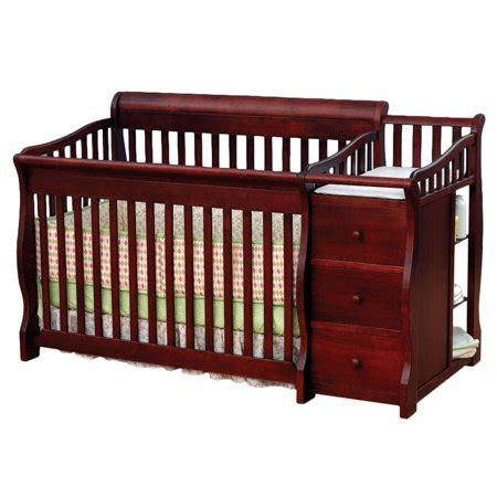 convertible crib with changing table sorelle tuscany 4 in 1 convertible fixed side crib and
