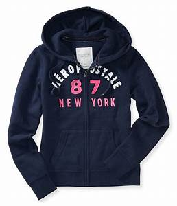 Aeropostale Womens New York Hoodie Sweatshirt