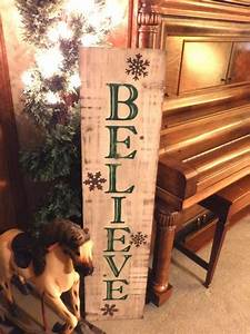 Large, Vertical, Distressed, Green, U0026, White, Believe, Sign, With