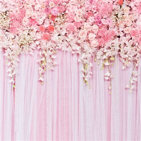 wedding backdrops flower floral washable cotton polyester