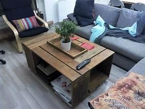 Table Basse Caisse Bois : table basse cagette pomme hu51 jornalagora ~ Nature-et-papiers.com Idées de Décoration