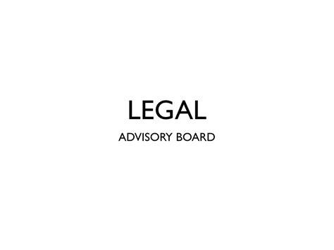 legal advisory board