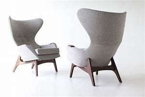 Craft, Associates, Modern, Wingback, Chairs, -, 1407