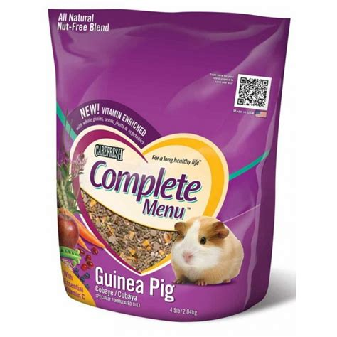 cuisine complet guinea pig food and diet and small pet products