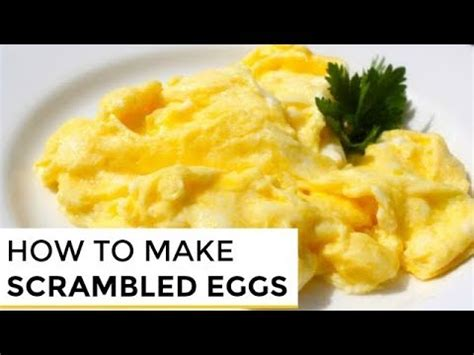 how to make fluffy scrambled eggs how to make really good scrambled eggs how to clip60