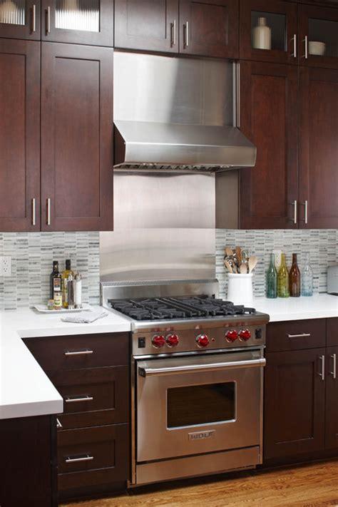 houzz kitchens backsplashes stainless backsplash