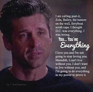25+ best ideas ... Mcdreamy Love Quotes