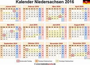 Kalender Zum Ausdrucken 2016 : image gallery niedersachsen ferien 2016 ~ Whattoseeinmadrid.com Haus und Dekorationen