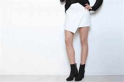 Skirt Diy Asymmetric Wrap Rose Button Try