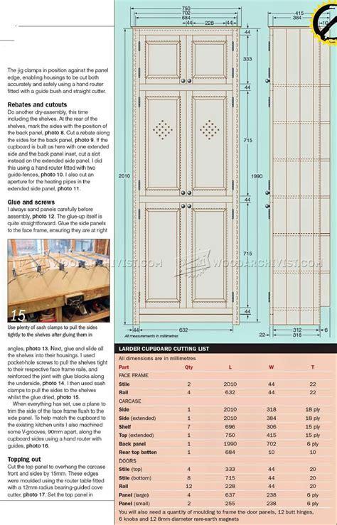 Kitchen Larder Cupboard Plans ? WoodArchivist
