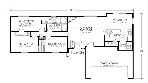1 Story Open Floor Plans by Single Story Open Floor Plans Single Story Open Floor