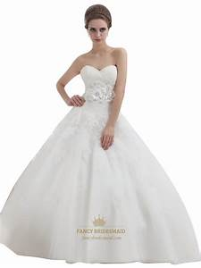 ivory ball gown lace bodice tulle skirt wedding dress with With fancy wedding dress