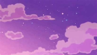 Pastel Clouds Sky Purple
