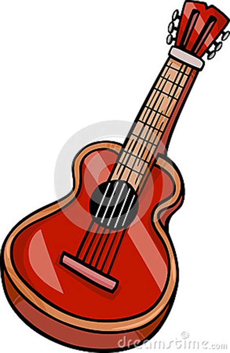 acoustic guitar cartoon clip art stock images image