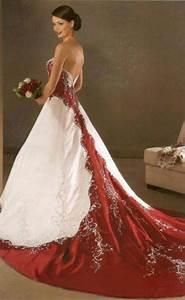 209 best red red white wedding dress images on pinterest With wedding dresses with red in them